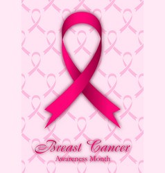 shape of cancer ribbon on pink background vector image