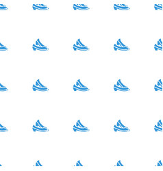 shoe icon pattern seamless white background vector image