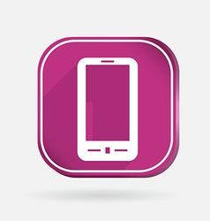smartphone Color square icon vector image