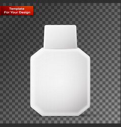 square plastic bottle white vector image