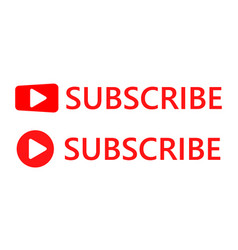 subscribe buttons vector image