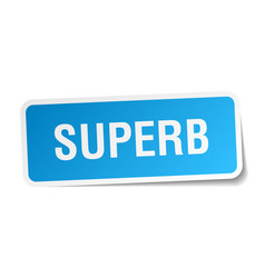Superb square sticker on white vector