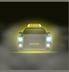 taxi cab with special sing on roand vector image