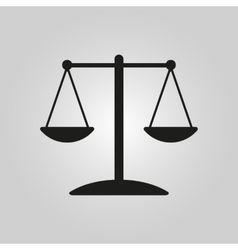 The scales icon vector image