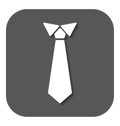 The tie icon Necktie and neckcloth symbol Flat vector