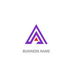 triangle colored company business logo vector image