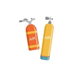 Two Types Of Air Tanks For Diving vector image