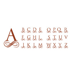 vintage calligraphy capital letters for monograms vector image