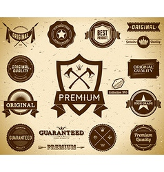 Vintage labels Collection 6 vector image