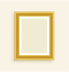 Vintage luxury golden photo frame vector