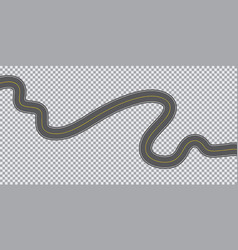 Winding long road on a transparent background vector