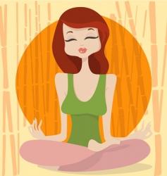 yoga time vector image
