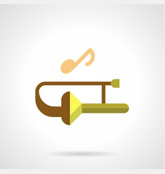 brass wind music festival flat color icon vector image vector image