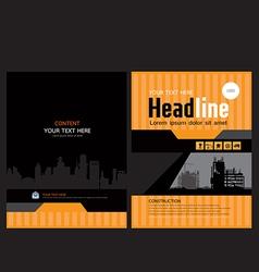 Brochure template design 2 vector image