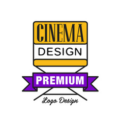 colorful cinema or movie logo cinematography vector image