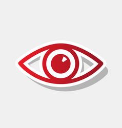 eye sign new year reddish vector image vector image