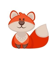 Fox funny cartoon character Cute icon vector image