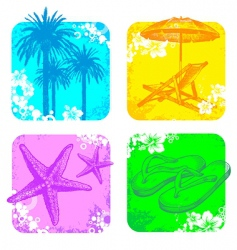 hand drawn resort objects vector image vector image