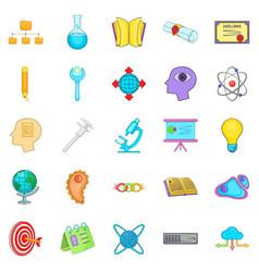 Human intelligence icons set cartoon style vector