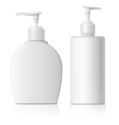 Realistic Dispenser set for soap vector image