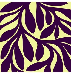 Grunge retro seamless pattern of colored leaves vector image vector image