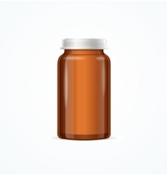 Medical Glass Brown Bottle vector image vector image