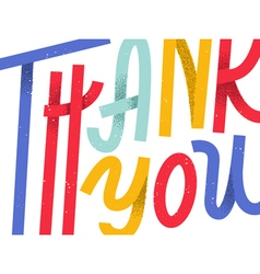 Thank you greeting card colorful custom lettering vector image vector image
