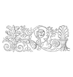 friezes at venice is the wide central section vector image vector image