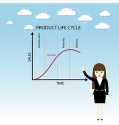 product life cycle chart vector image vector image