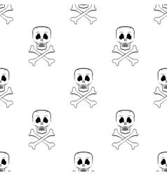 Scull Cross Bones Seamless Pattern vector image