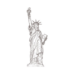 statue of liberty sight of america vector image