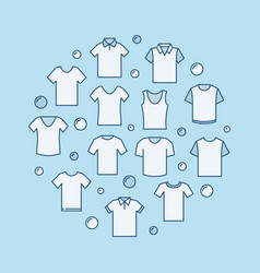 t-shirt modern round blue vector image vector image