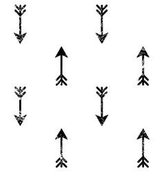 Arrows grunge seamless aztec pattern vector