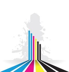 coloured line strip background vector image