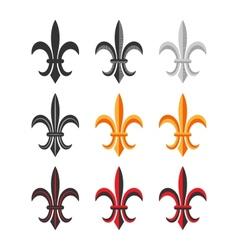 Fleur De Lis Royal Symbol Set vector image