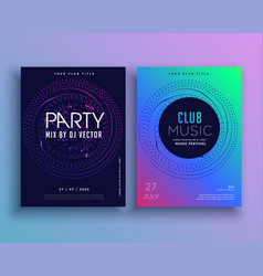 music club party flyer template design vector image vector image