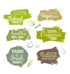 natural organic food label Farm products vector image