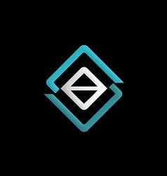 square construction symbol logo vector image vector image