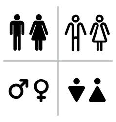 WC icon set vector image