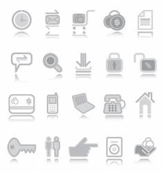 web icons silver vector image vector image