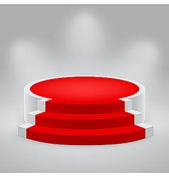 3d podium carpet vector image vector image