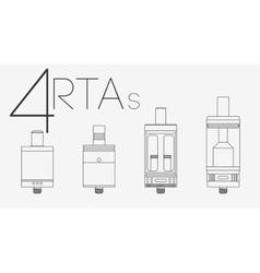 4 thin lines RTAs set vector