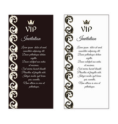 a set of two vertical elegant flyers for vip vector image