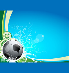 A soccer sport ball on a blue and green background vector