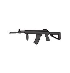 Ak kalashnikov assault rifle on a white isolated vector
