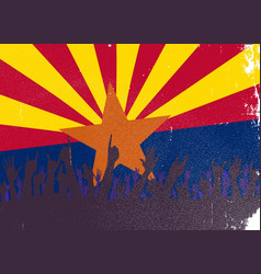 Arizona state flag with audience vector