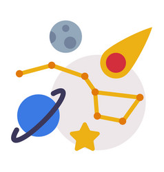 Astronomy lesson symbols education schooling and vector