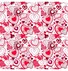 Background made of ornate hearts vector image