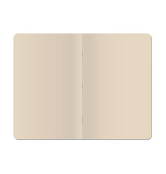 Blank stapled notebook isolated on white vector