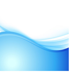 Blue abstract smooth wave border layout vector